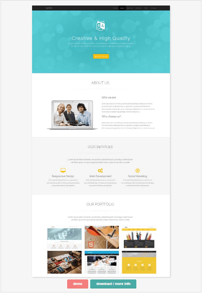 Best website templates for small business 50 one page website templates for your business alpha cheaphphosting Images