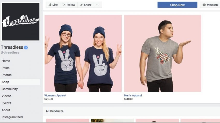 50 Facebook Page Examples to Keep Your Brand Page Fresh - Threadless