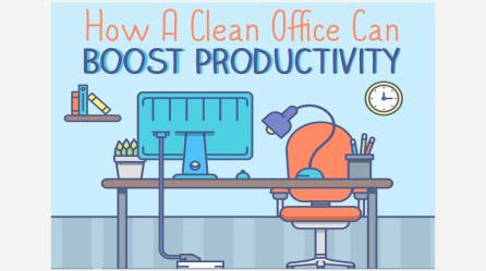 Time to Tidy Up! Less Desk Clutter Makes You More Productive Data Shows INFOGRAPHIC Small Business Trends