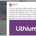 Klout, a Social Scoring Platform Businesses Never Warmed Up To, Will Shut Down After May 25