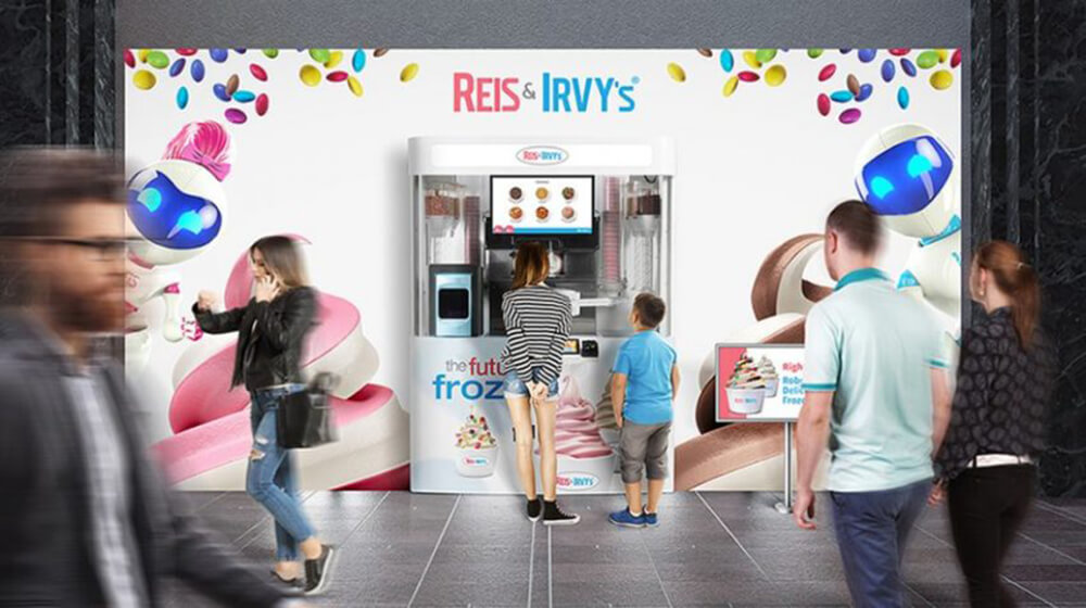 Is This Frozen Yogurt Robot Franchise The Future of the Industry? Reis & Irvy's Says Yes  Reis & Irvy's Offers Yogurt Franchise Powered by Robots Yogurt 1
