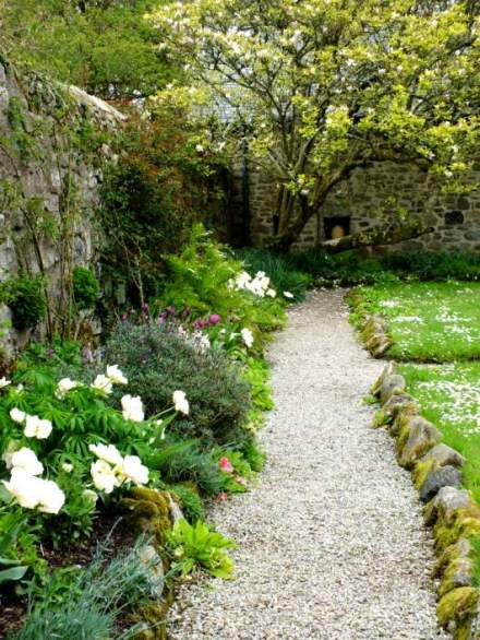 Borders around the walled garden