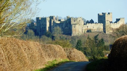 Looking back at Ludlow castle