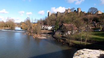 View from Dinham Bridge