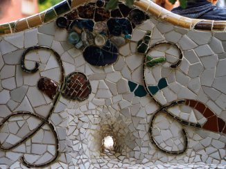 Mosaics on the bench