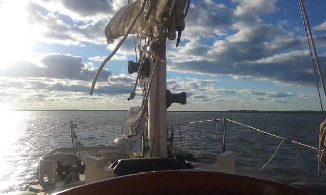 View from aboard a windy day