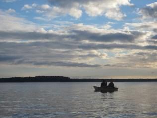 Rowing around monkey island