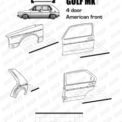 Mk1 Golf Gti Wiring Diagram Chevrolet Diagrams Truck Database Vw Rabbit A1 Trim Molding Set 4 Doors Sb Store Find