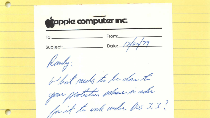 Apple Memos Discovered in Thrift Store