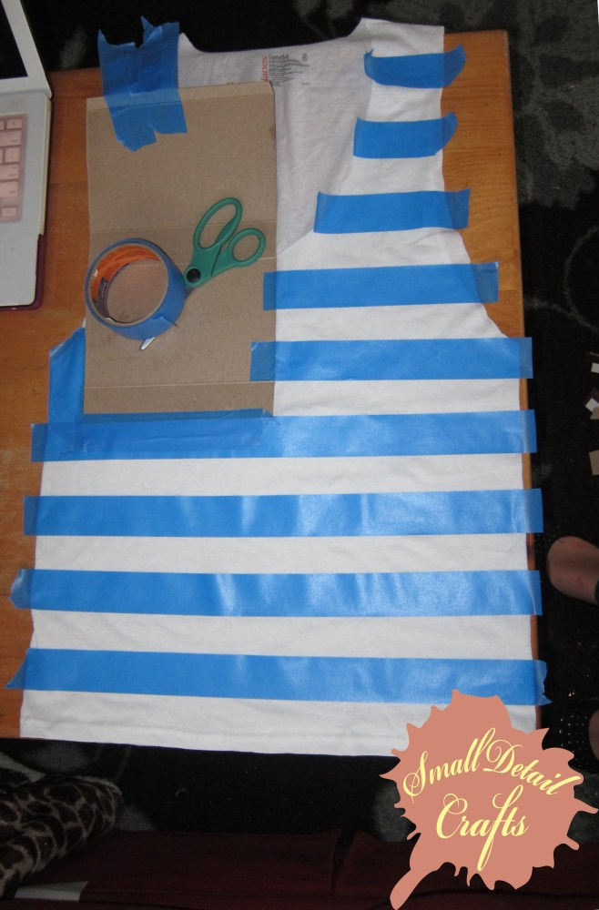 No Sew DIY Fourth of July Spray Paint Tank Top (3/6)
