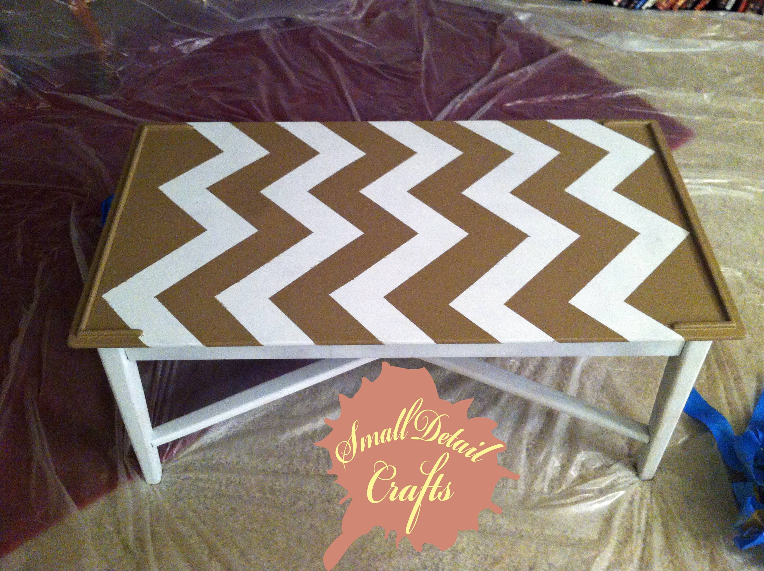 good paint colors for living room sofa set diy spray chevron table | small detail crafts
