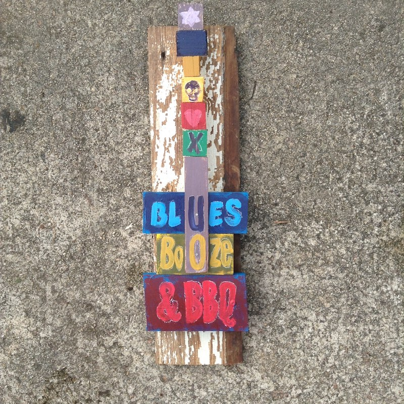 "Size: 6.5"" x 26"" - Mixed Media Folk Art by Raleigh, NC Artist Tom Forsythe"