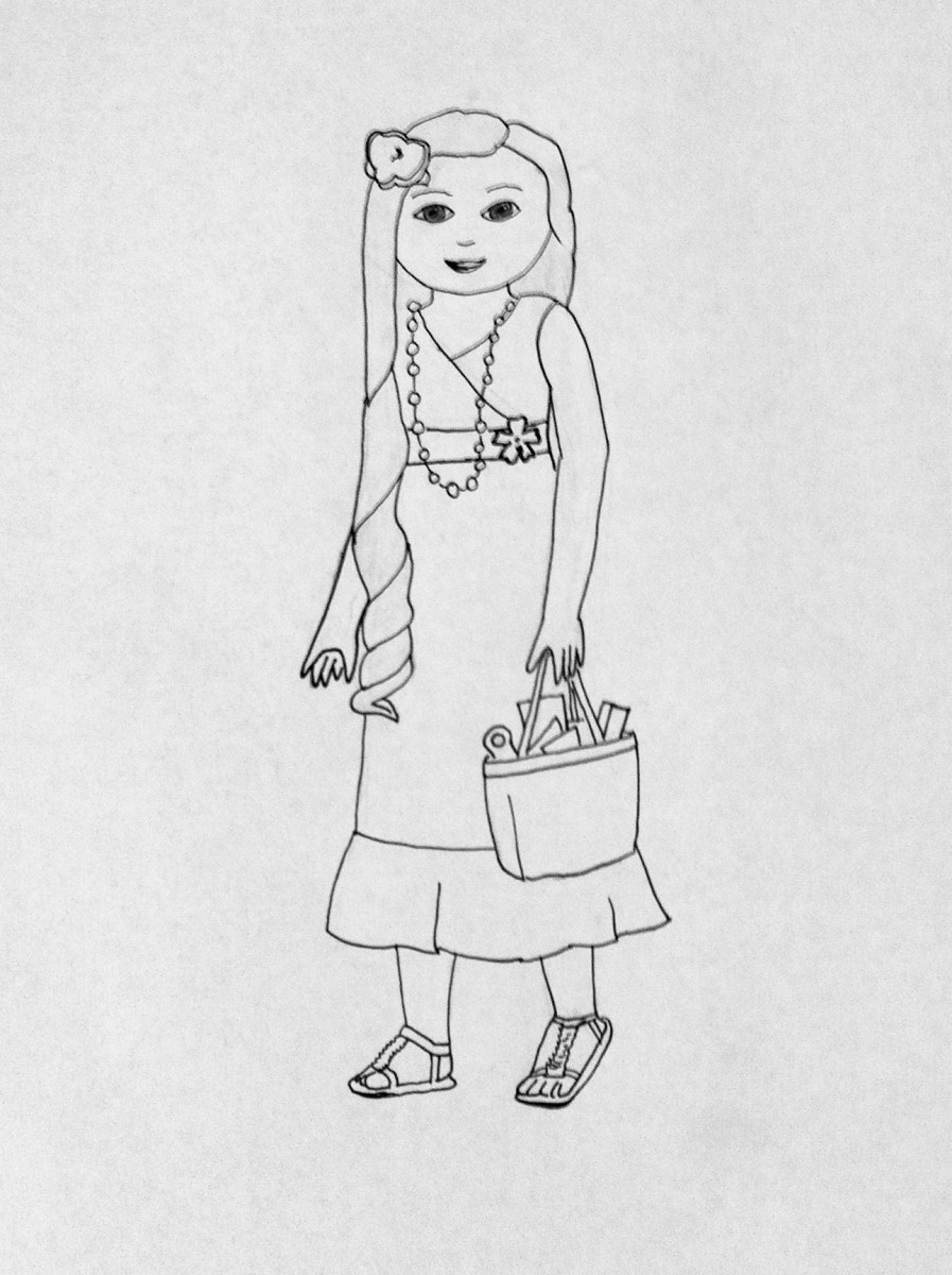 more american girl coloring pages