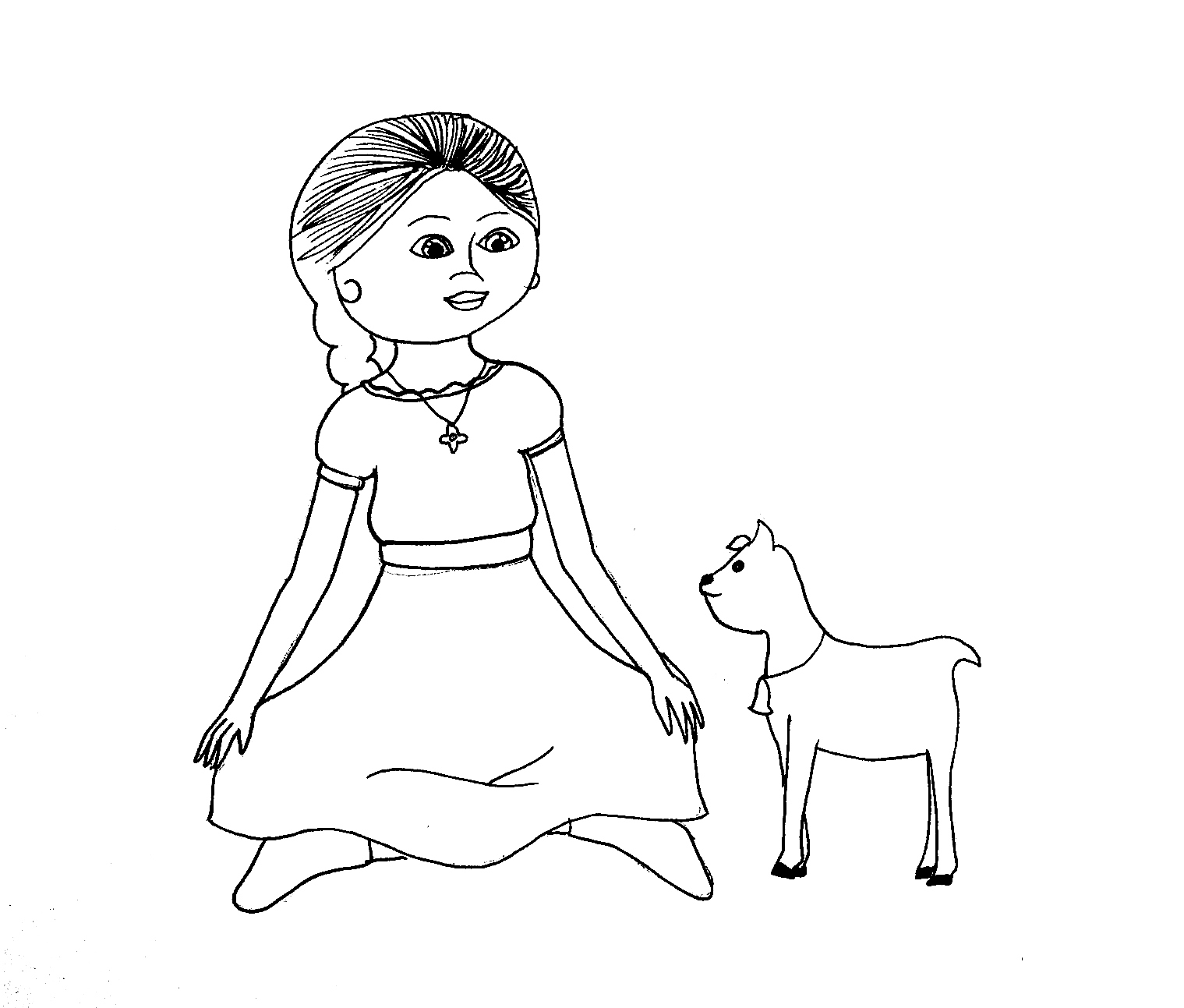 American Girl Coloring Pages: Beforever