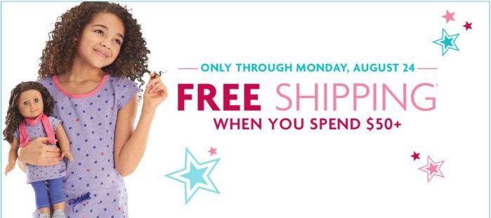 American Girl Free Shipping 8/21/15 – 8/24/15