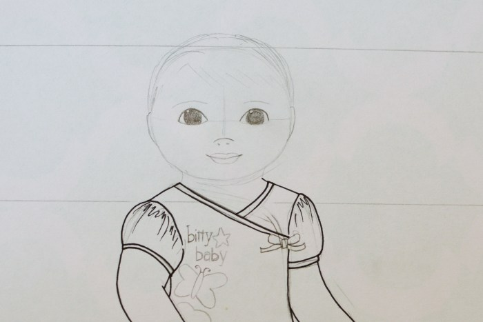 Small dolls in a big world real life american girl doll for Bitty baby coloring pages