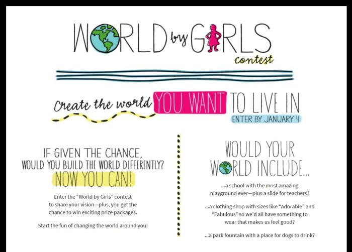 World By Girls American Girl Contest – Enter to Win!