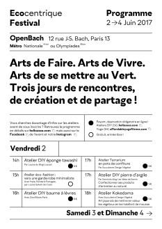 Ecocentrique Festival Programme Recto(1)