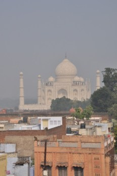 Have a rooftop breakfast with a view to the Taj Mahal