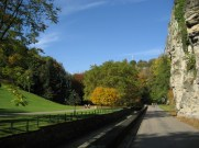 Luxembourg City in autumn colours