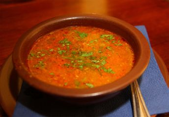 Kharcho - a Georgian spicy meat soup (image by A.Savin)