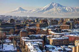 Yerevan, the capital of Armenia, with Mount Ararat in the backdrop (image by Serouj Ourishian)