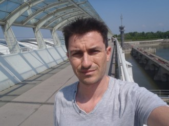 A selfie on a hydraulic power dam