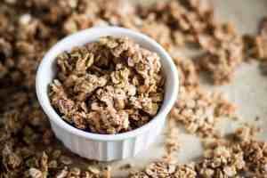 bowl of gluten free salty & sweet granola