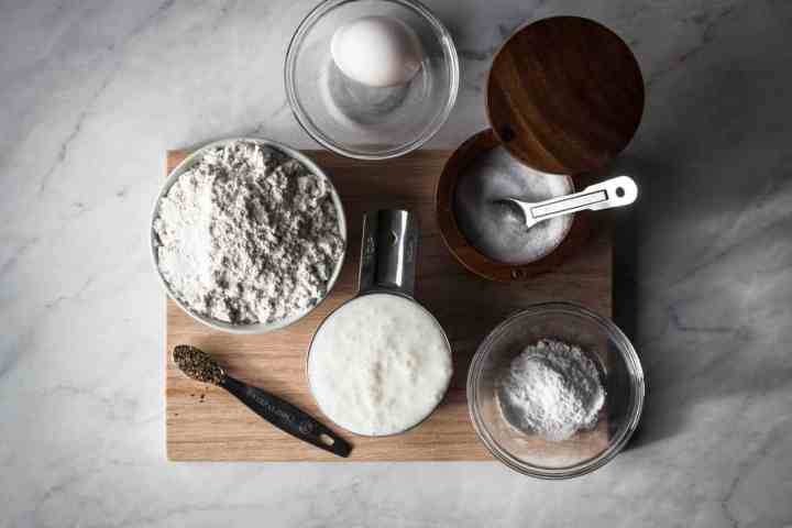 the ingredients for the biscuits on the gluten free instant pot chicken and dumplings