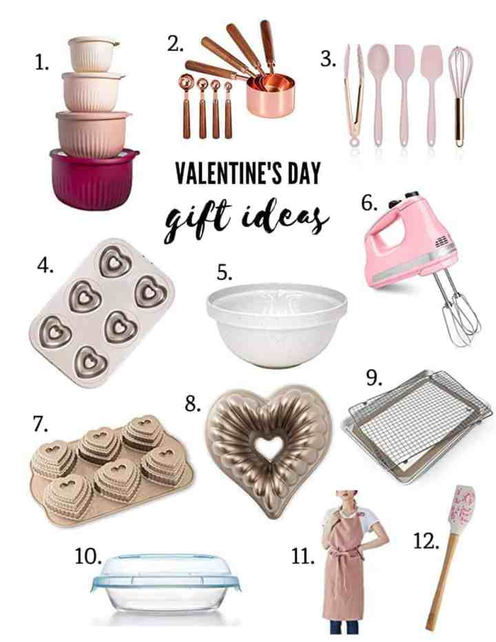 various valentine's day gift ideas that would be perfect for someone who loves to bake