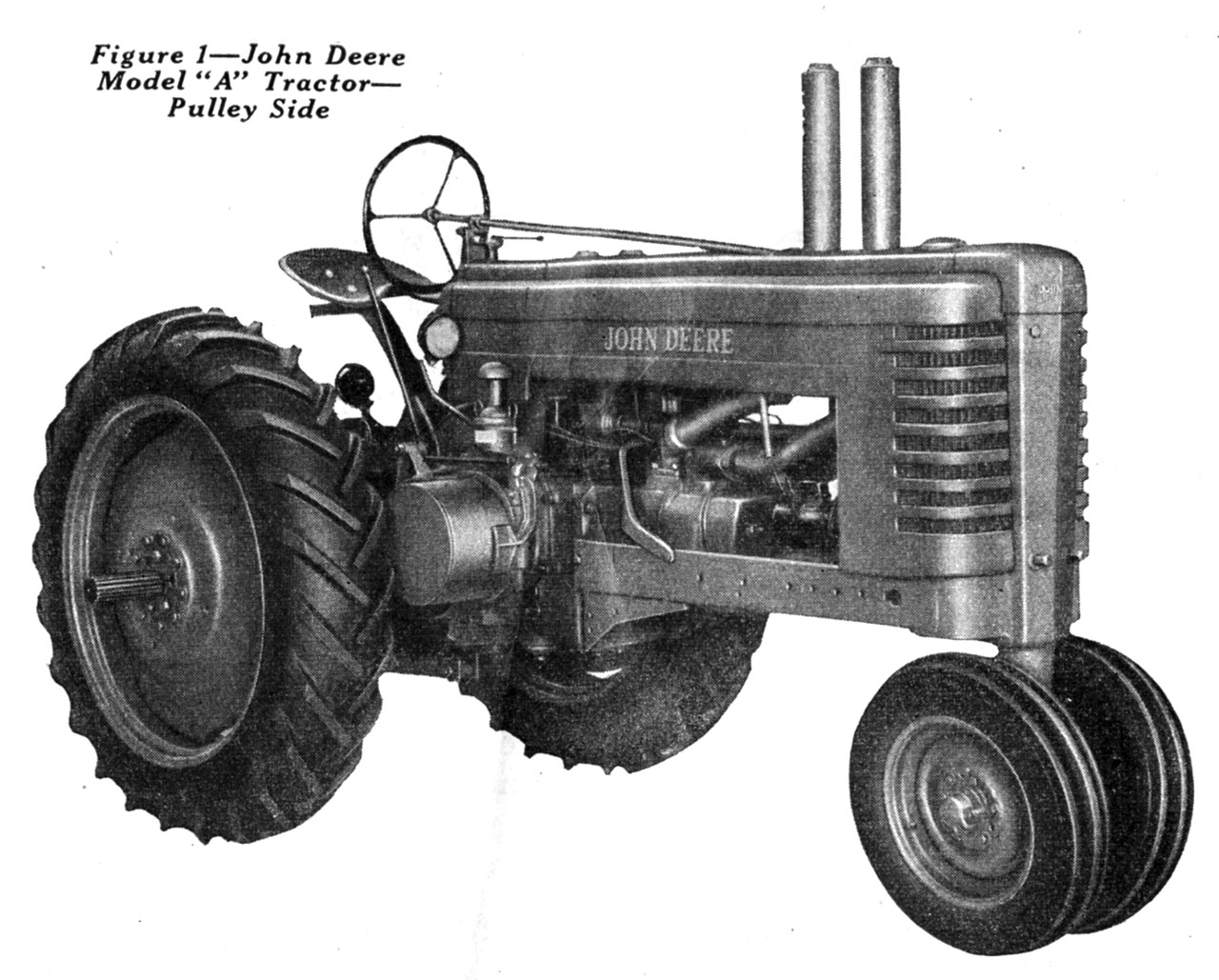 hight resolution of john deere model a tractor