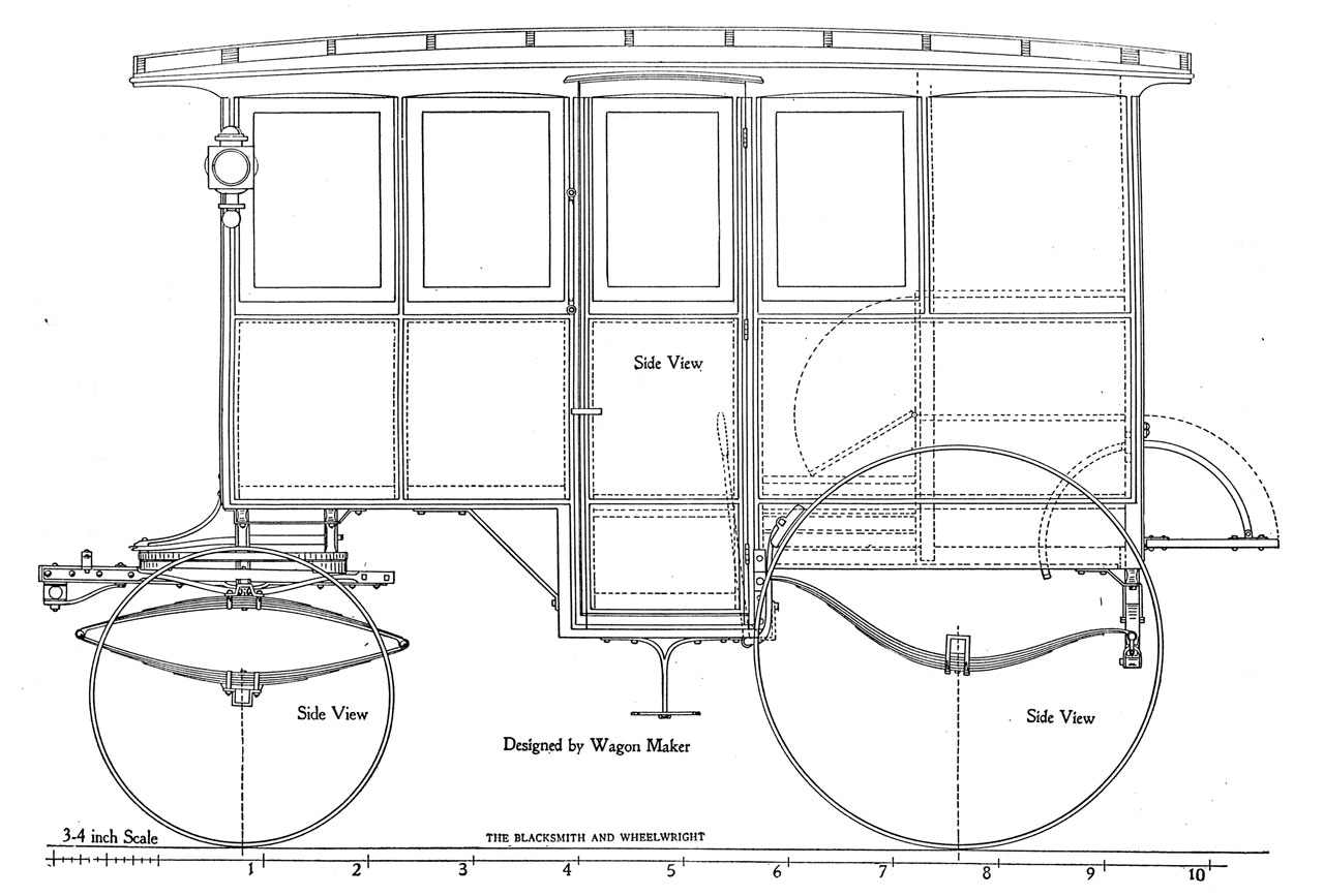 hight resolution of delivery wagon plans