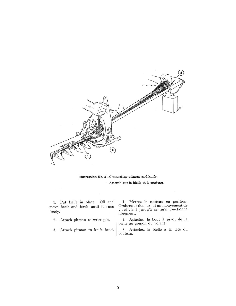 McCormick-Deering No. 7 Mower Manual in English & French