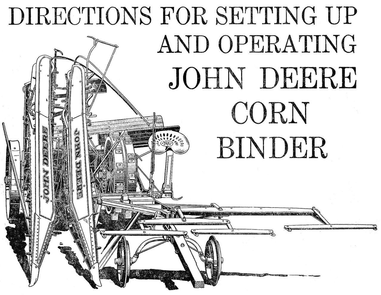 John Deere Corn Binder