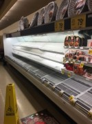 supermarket shelves during the snow storm