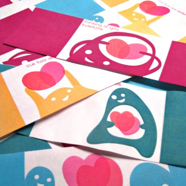 Free Download and Print Modern Fun Kids Valentine's Cards Downloadable