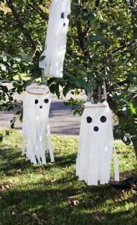 DIY Windsock Ghosts  Plastic Bag Ghost Craft  DIY ...
