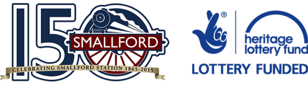 Smallford Railway logo 150 years and HLF logo