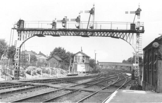 Hatfield Signal Gantry for St Albans Branch 1960 ©