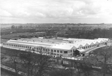 Hill End Yard 10 with new Marconi factory 1948