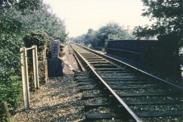 Looking Towards main line Wellfield Road Bridge 1968