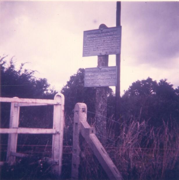 Near Butterwick Siding footpath crossing 1963
