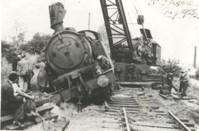 Sanders Siding Derailment 1955 N2 No 69632