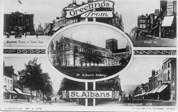 St Albans Edwardian postcard 1 ©
