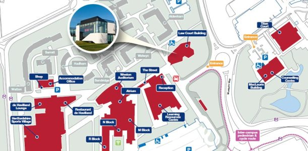 university-of-hertfordshire-law-building-map