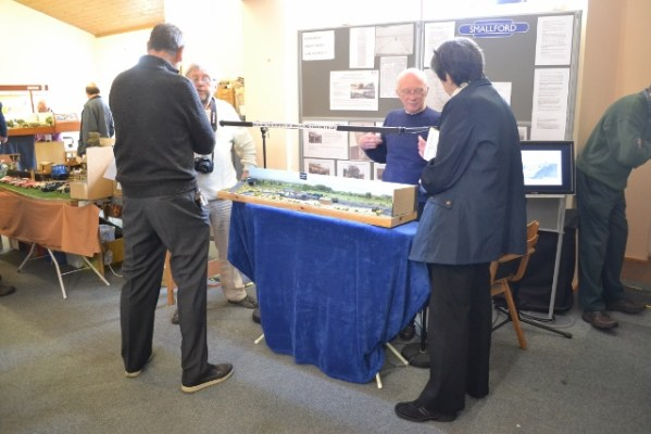 The Smallford model/project display area, as seen on entering the room.