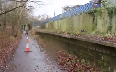 Smallford Station Platform Gets Cleared!