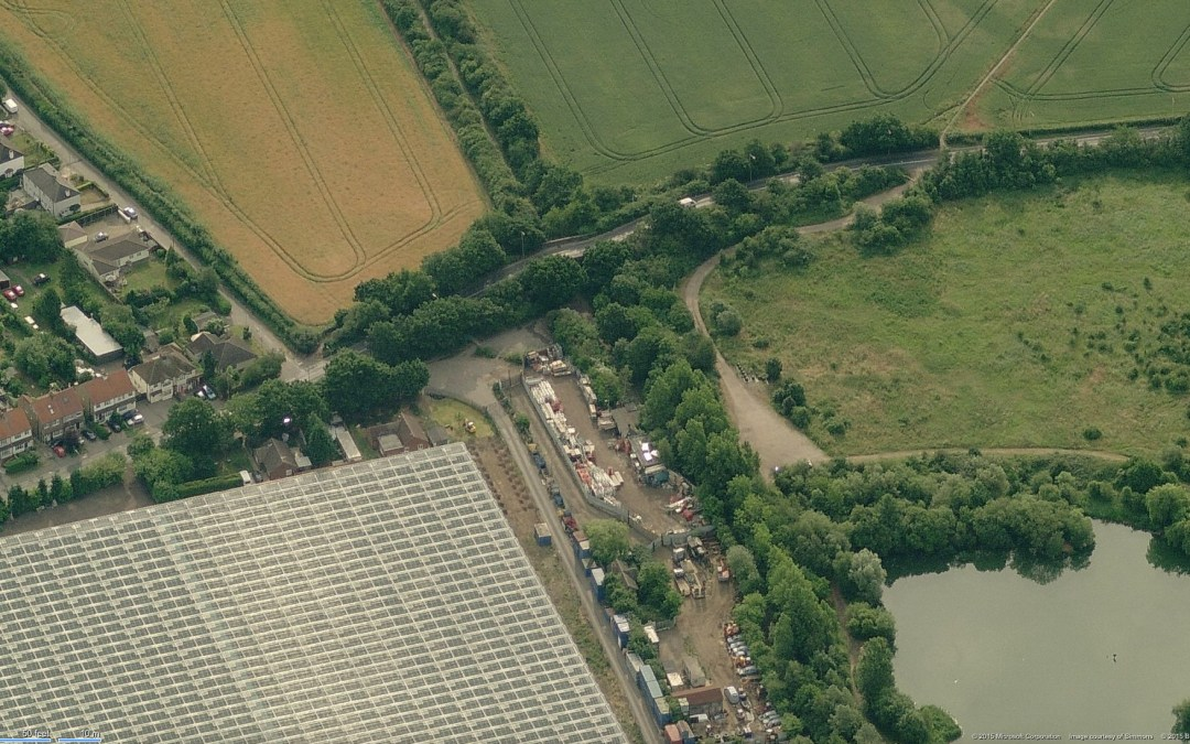 Smallford Station from the Air