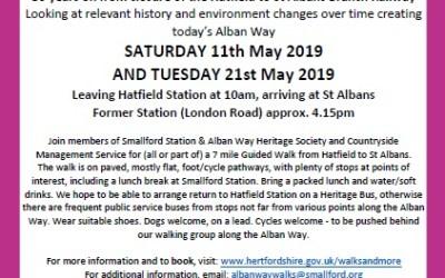 Free Alban Way Guided Walks: May 2019