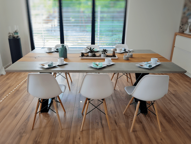Diy Concrete Dining Table My Masterpiece Small Great Things